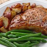 Pork Chop and Greens