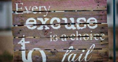 excuses to fail