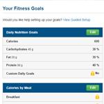 MyFitnessPal Goals