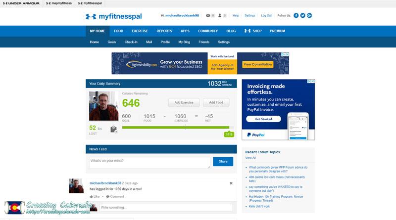 Use MyFitnessPal