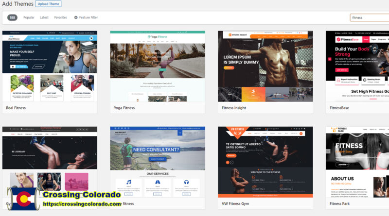Looking for a Fitness Theme